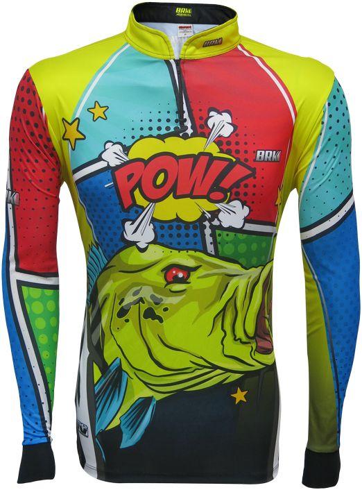 Camisa de Pesca Brk Tucunaré Pow Yellow com FPU 50+