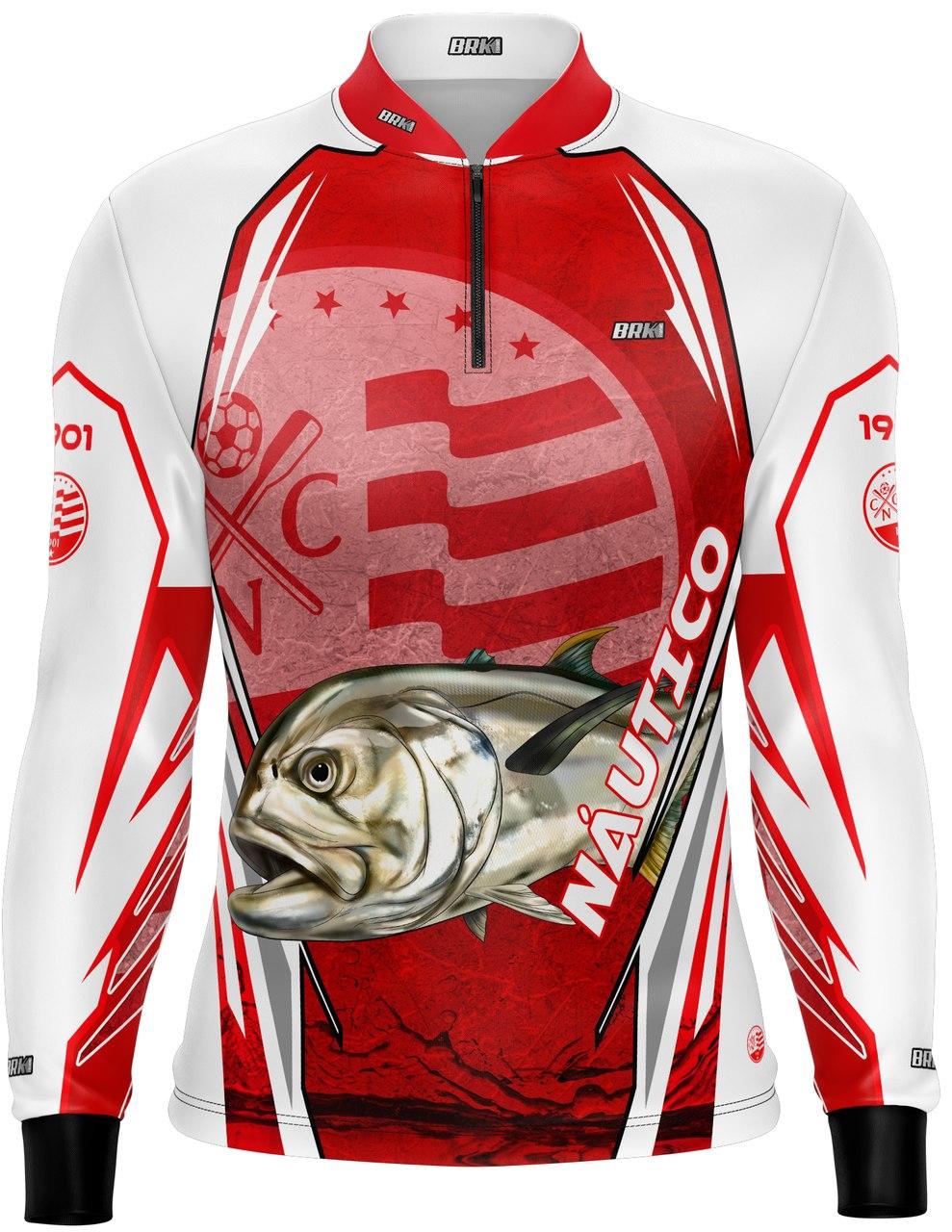 Camisa de Pesca Brk Xaréu Futebol 37 com fpu 50+