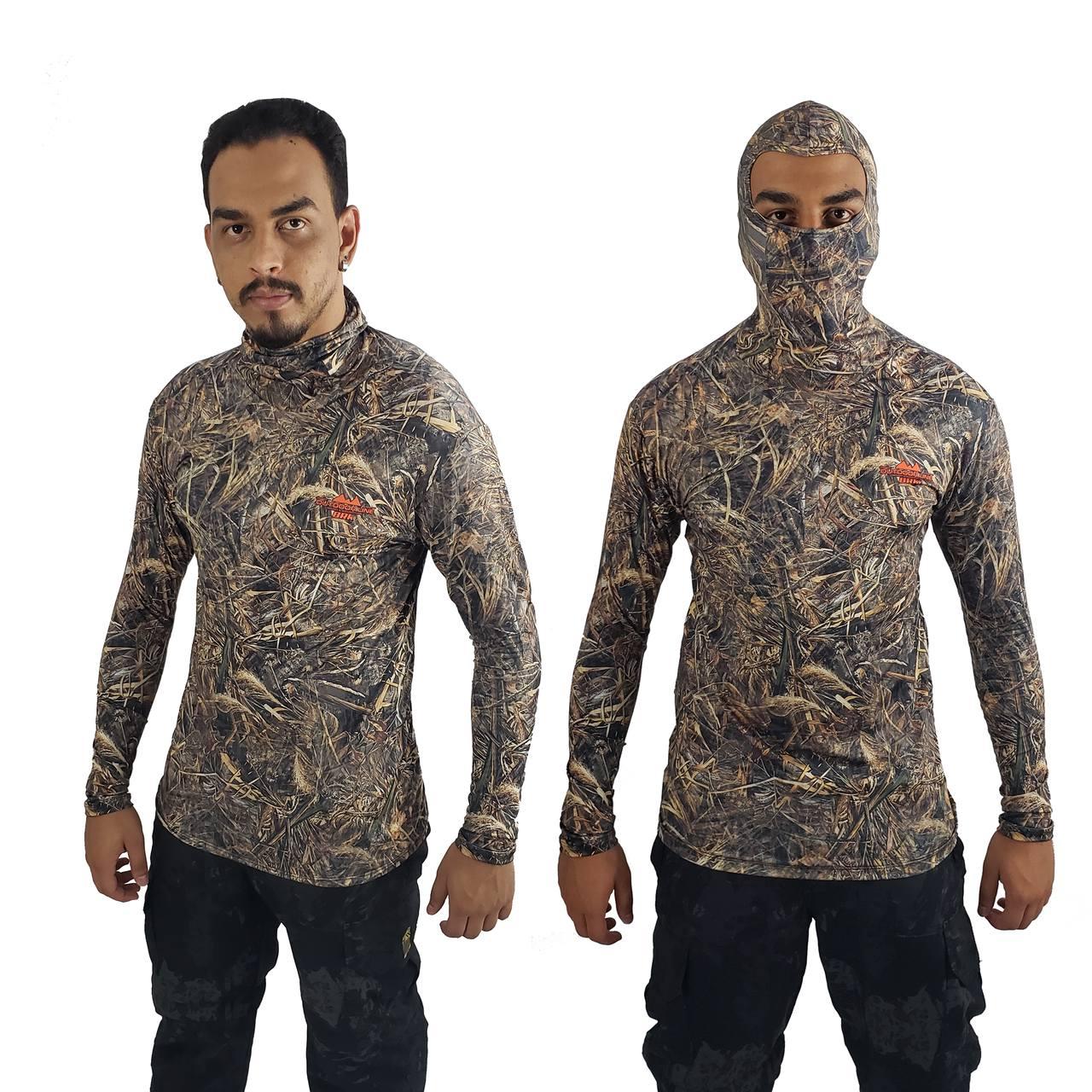 Camisa de Pesca com Capuz Ninja BRK Realtree com fpu50+