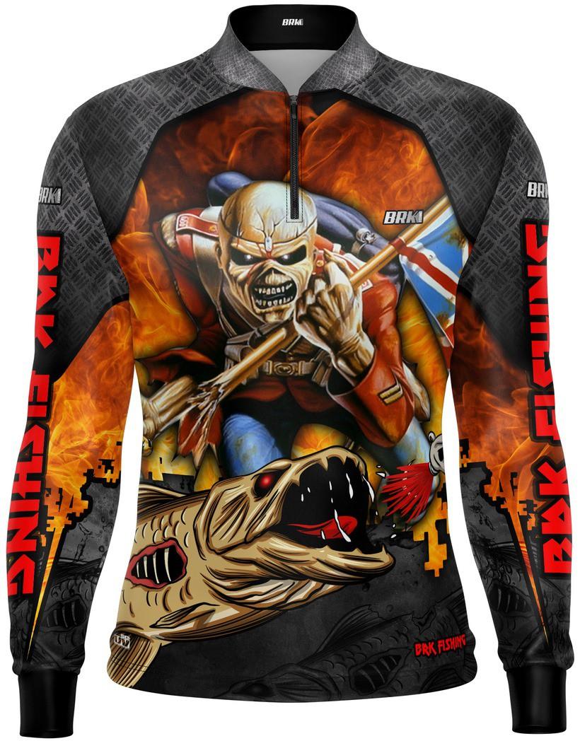 Camisa de Pesca Traíra Eddie Iron Maiden Limited com FPU 50+