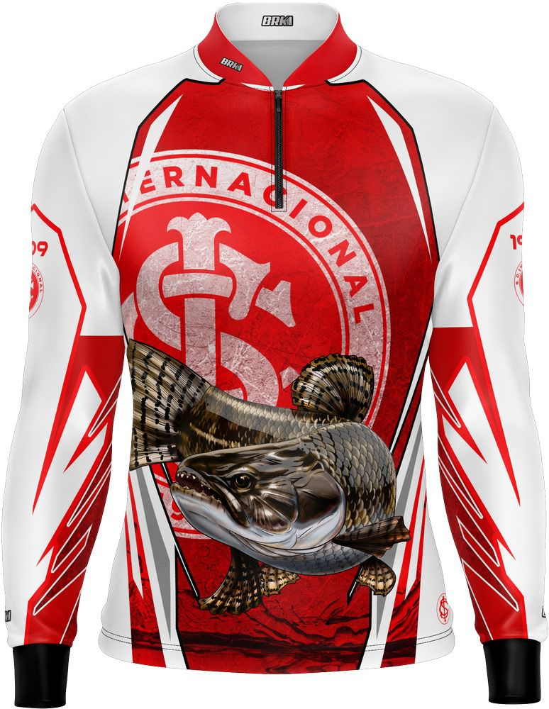 Camisa De Pesca Traíra Futebol 18 Com Fps 50+