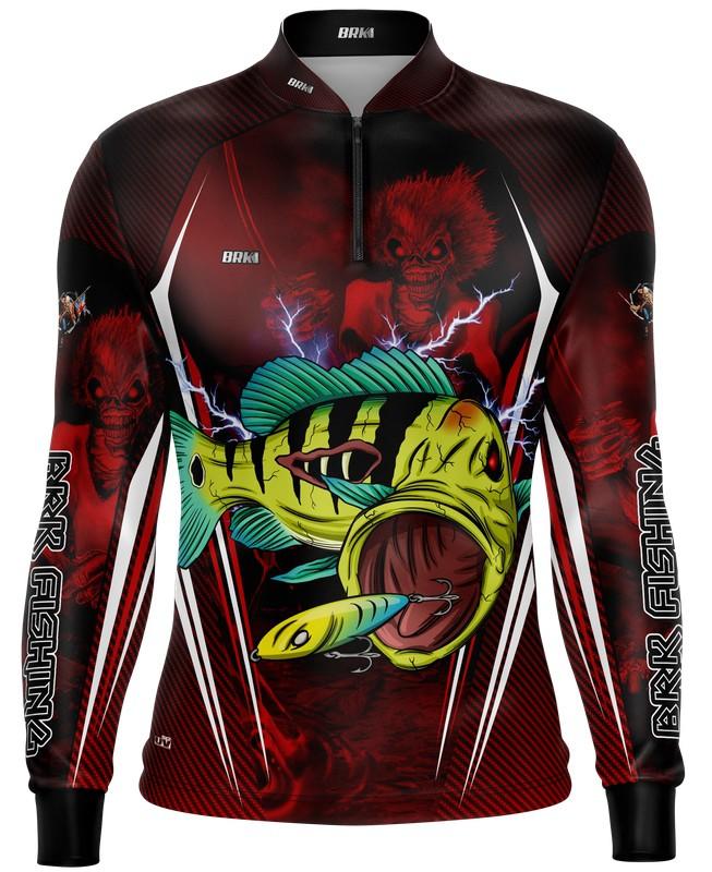 Camisa de Pesca Tucunaré Eddie 2 Iron Maiden Limited com FPU 50+