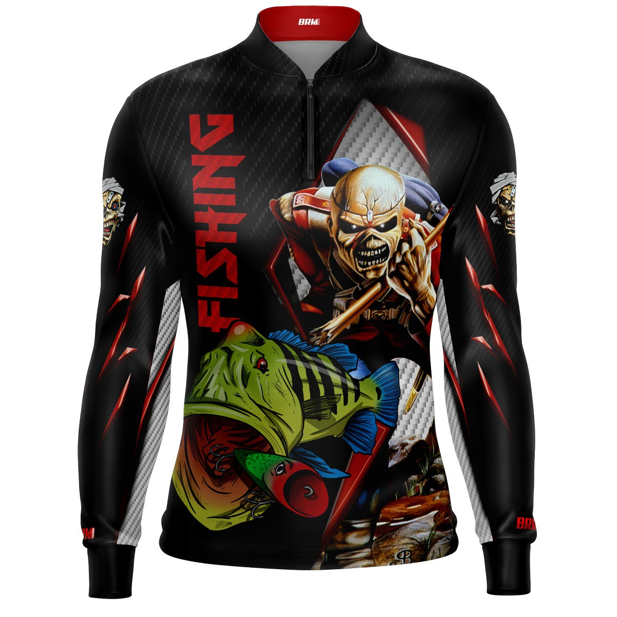 Camisa de Pesca Tucunaré Eddie Iron Maiden Limited com FPU 50+