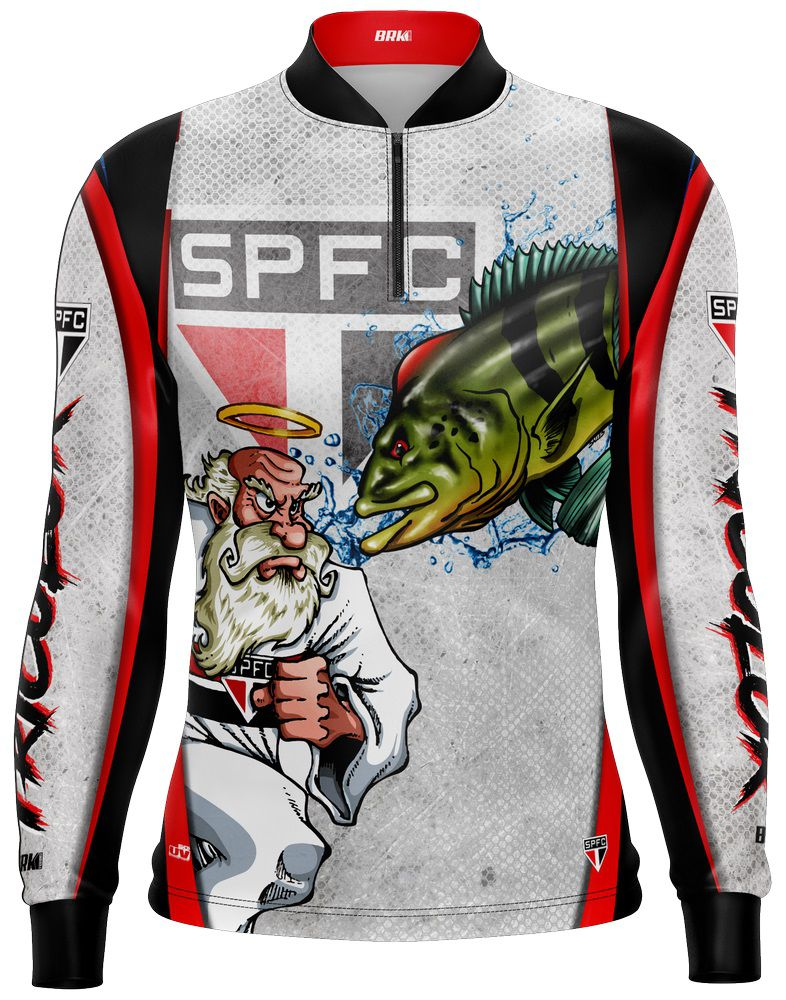Camisa de Pesca Tucunaré Futebol 04 Com Fps 50+