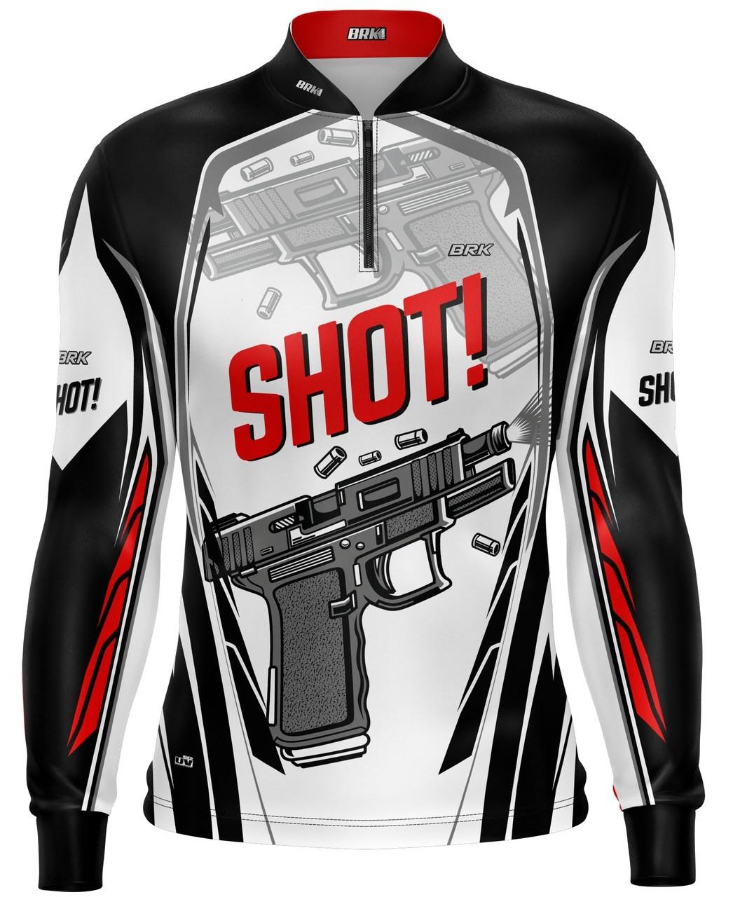 Camisa Tiro Esportivo Brk Shot Branca com FPU 50+