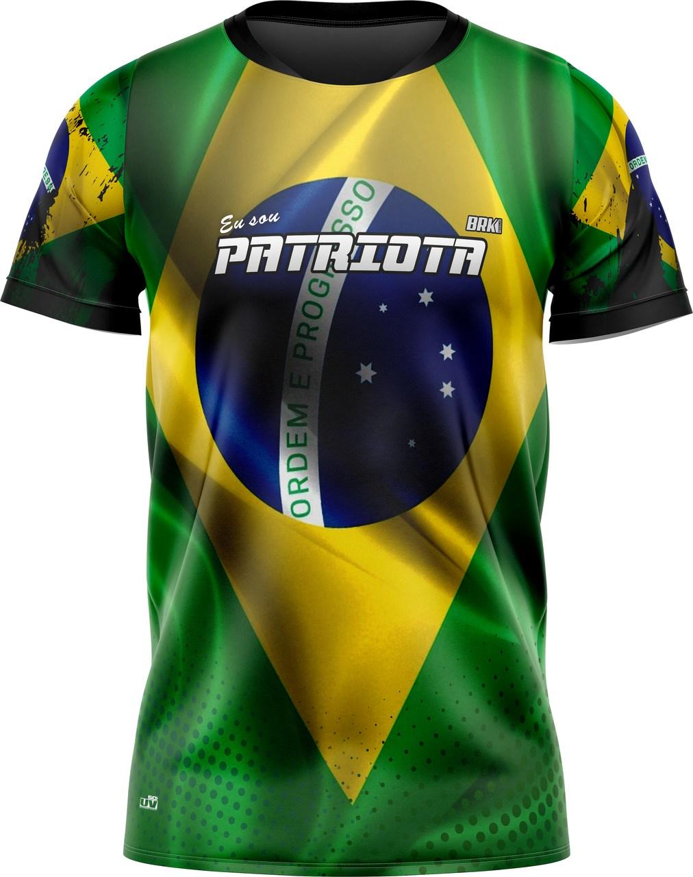 Camiseta Bandeira do Brasil Patriota Brk com UV50+