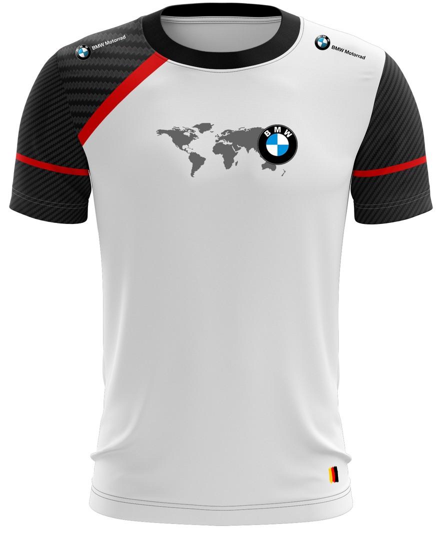 Camiseta Bmw Casual 01 Brk Motociclismo Tecido Dry