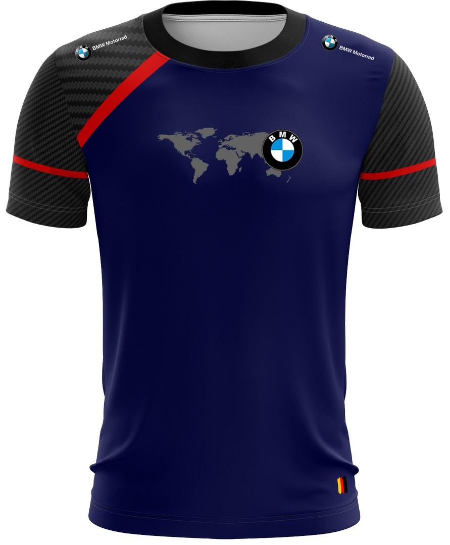 Camiseta Bmw Casual 02 Brk Motociclismo Tecido Dry