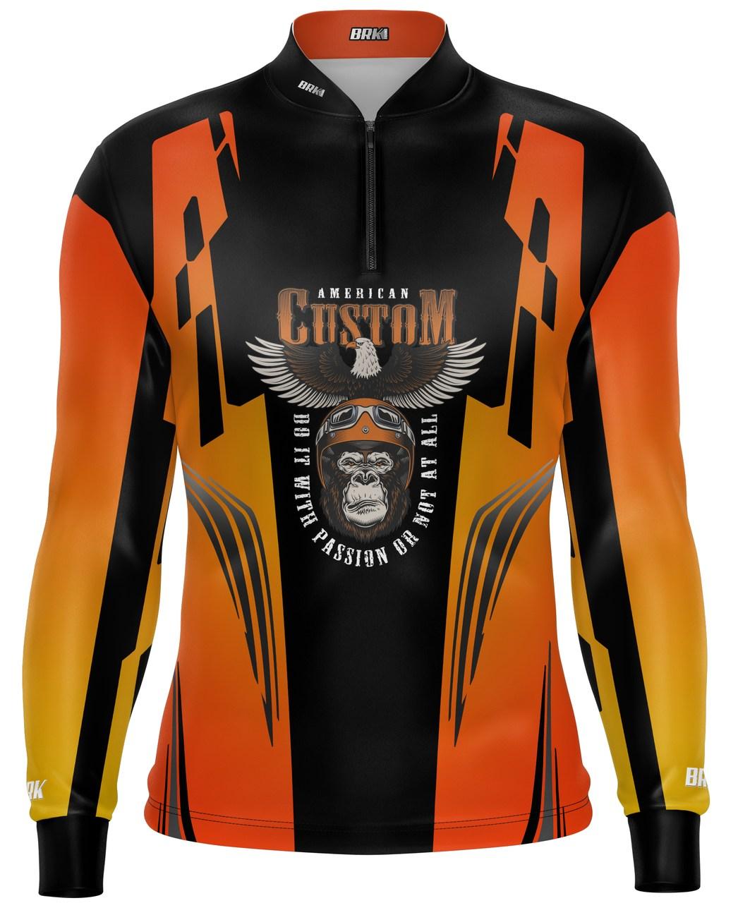 Camiseta Brk Motociclismo American Custom com FPU 50+