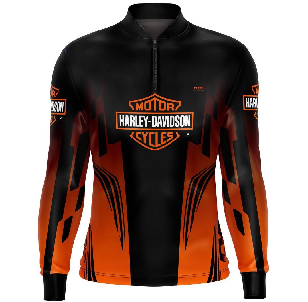 Camiseta Brk Motociclismo Harley Davidson com FPU +50