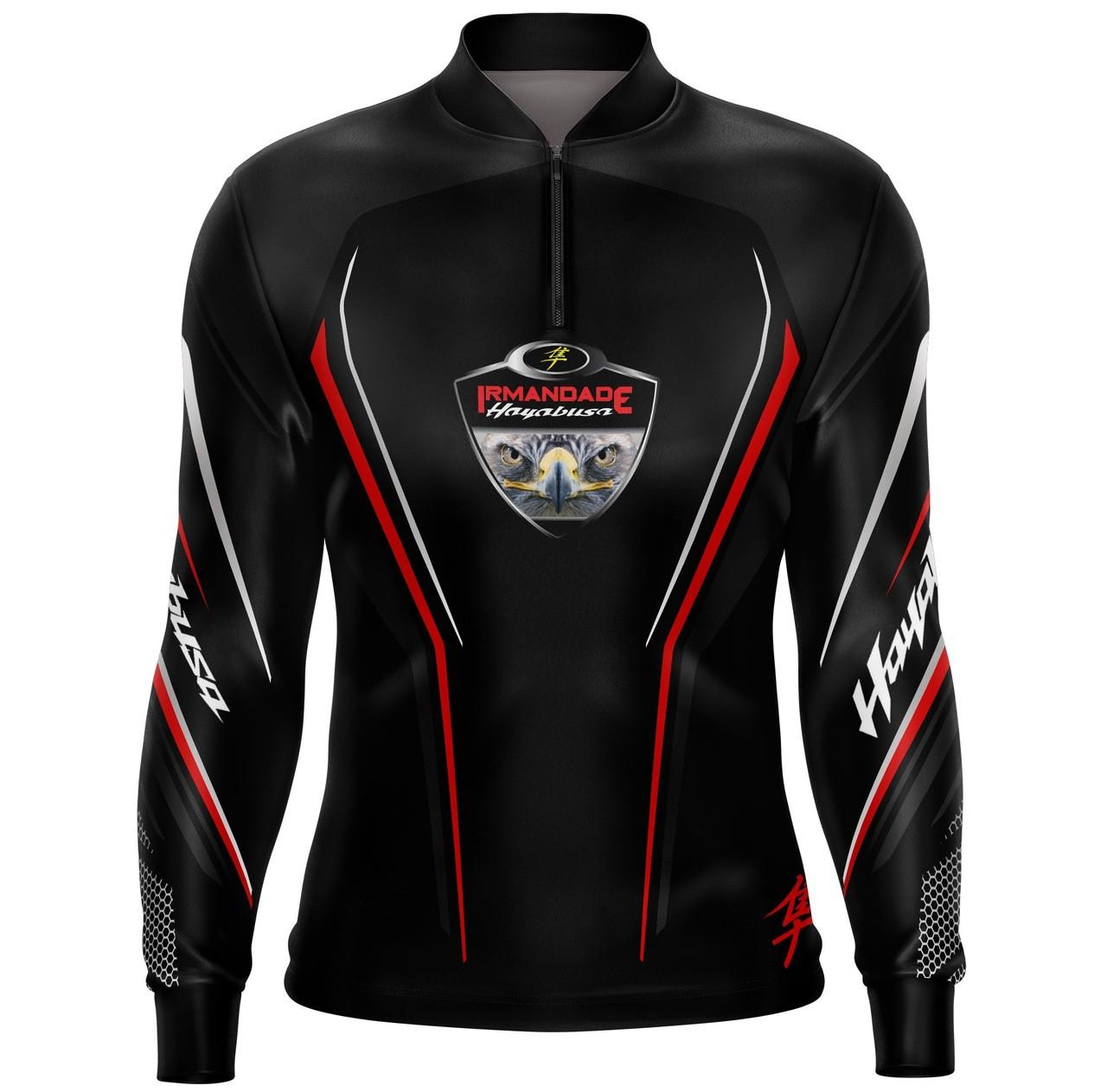Camiseta Brk Motociclismo Irmandade Hayabusa Black fps 50+