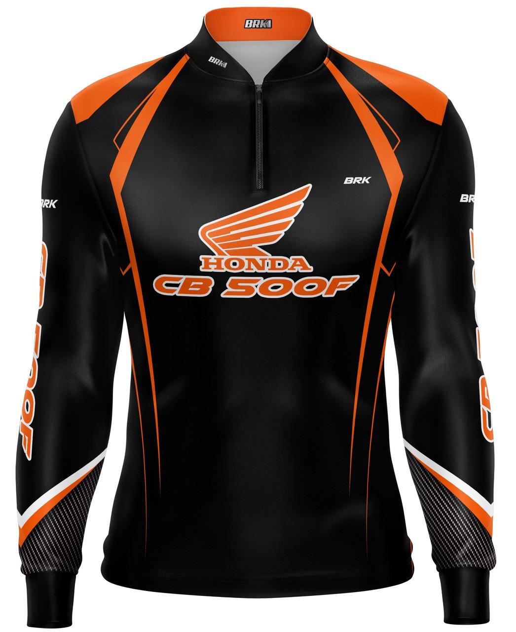 Camiseta Brk Motociclismo Honda CB 500F com FPU 50+