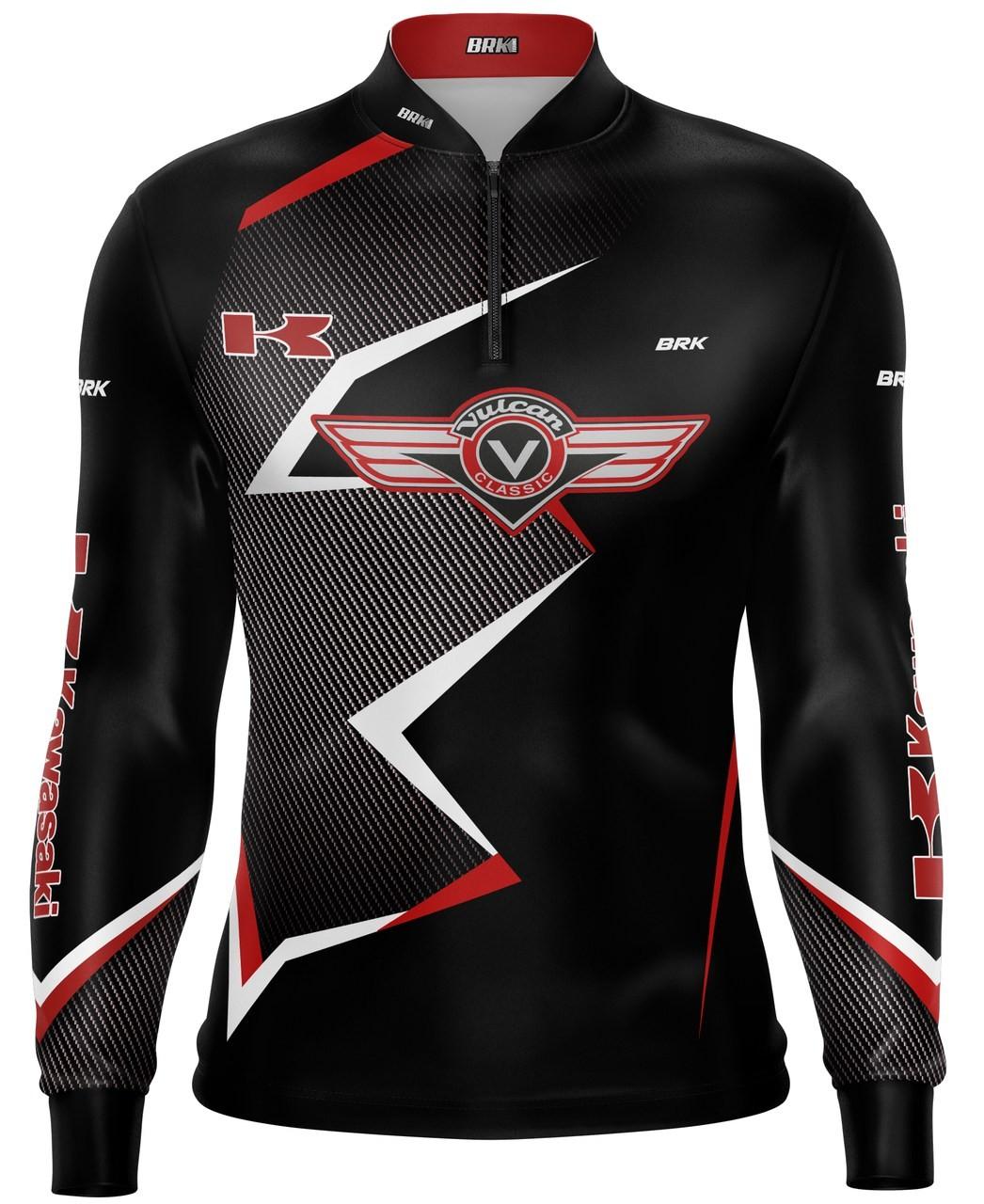 Camiseta Brk Motociclismo Kawasaki Vulcan com FPU 50+