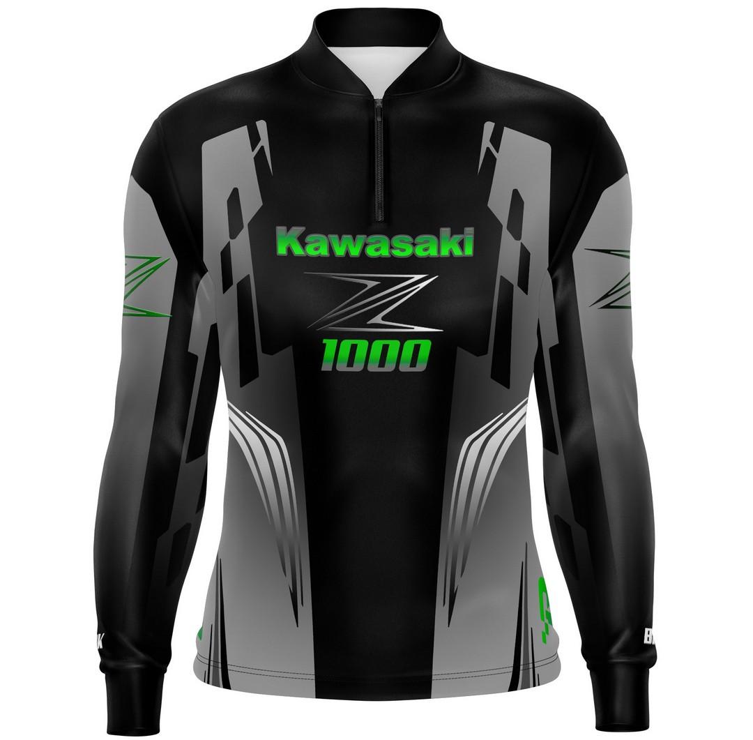 Camiseta Brk Motociclismo Kawasaki Z1000 com FPU 50+