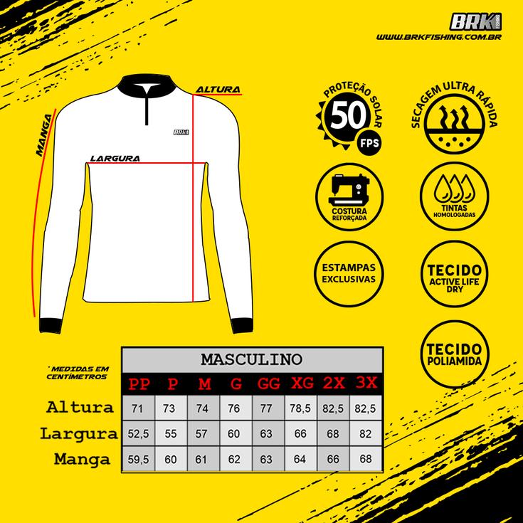 Camiseta Brk Motociclismo Ktm com FPU +50