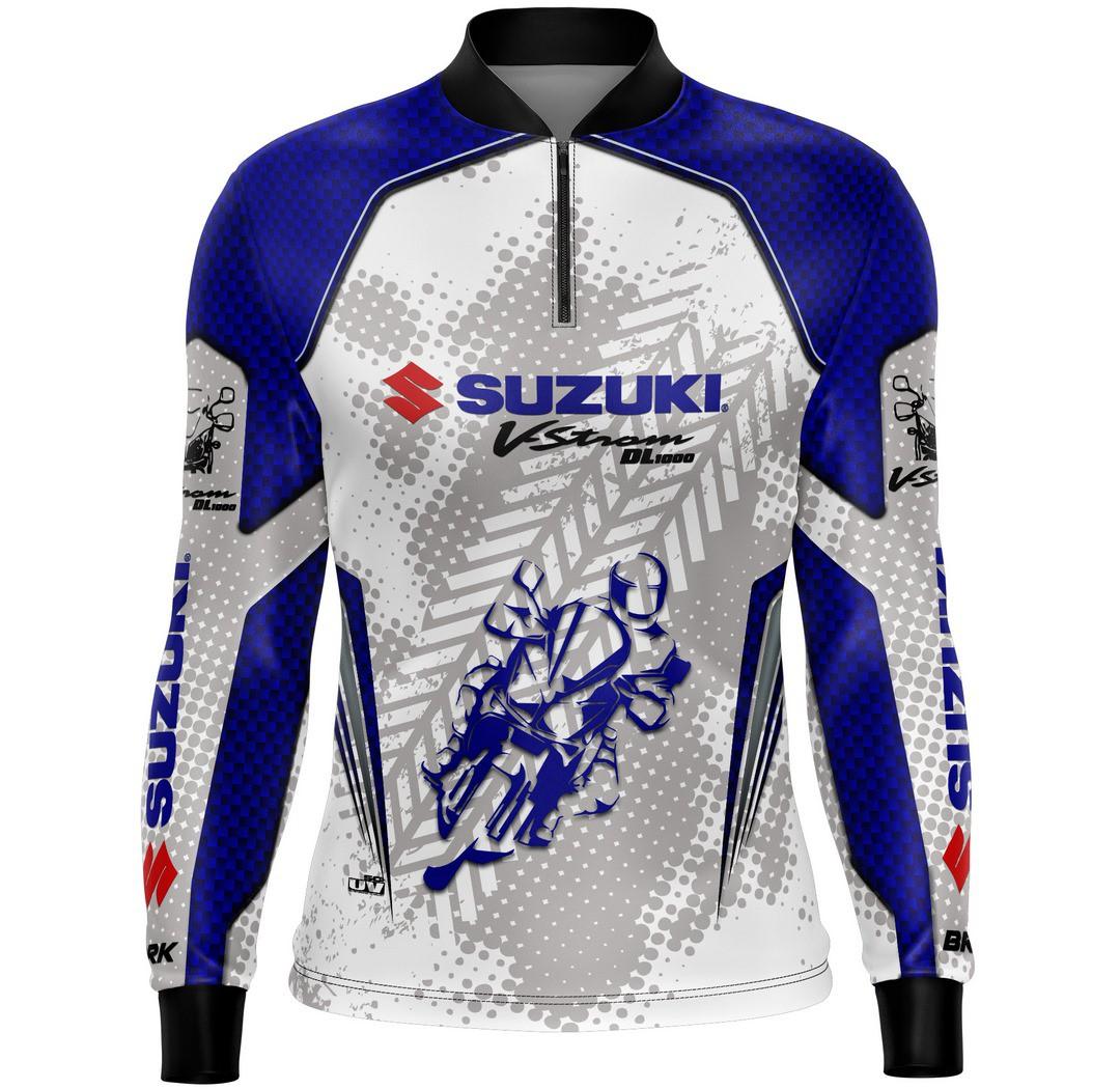 Camiseta Brk Motociclismo Suzuki V-Strom1000 com FPU +50