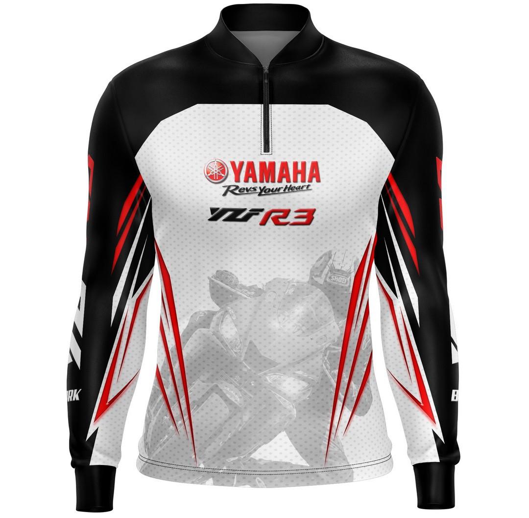 Camiseta Brk Motociclismo Yamaha R3 com FPU 50+