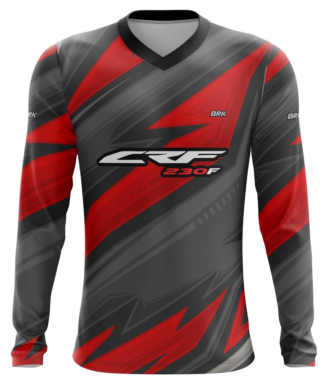 Camiseta Brk Motocross Honda CRF 230F com FPU 50+