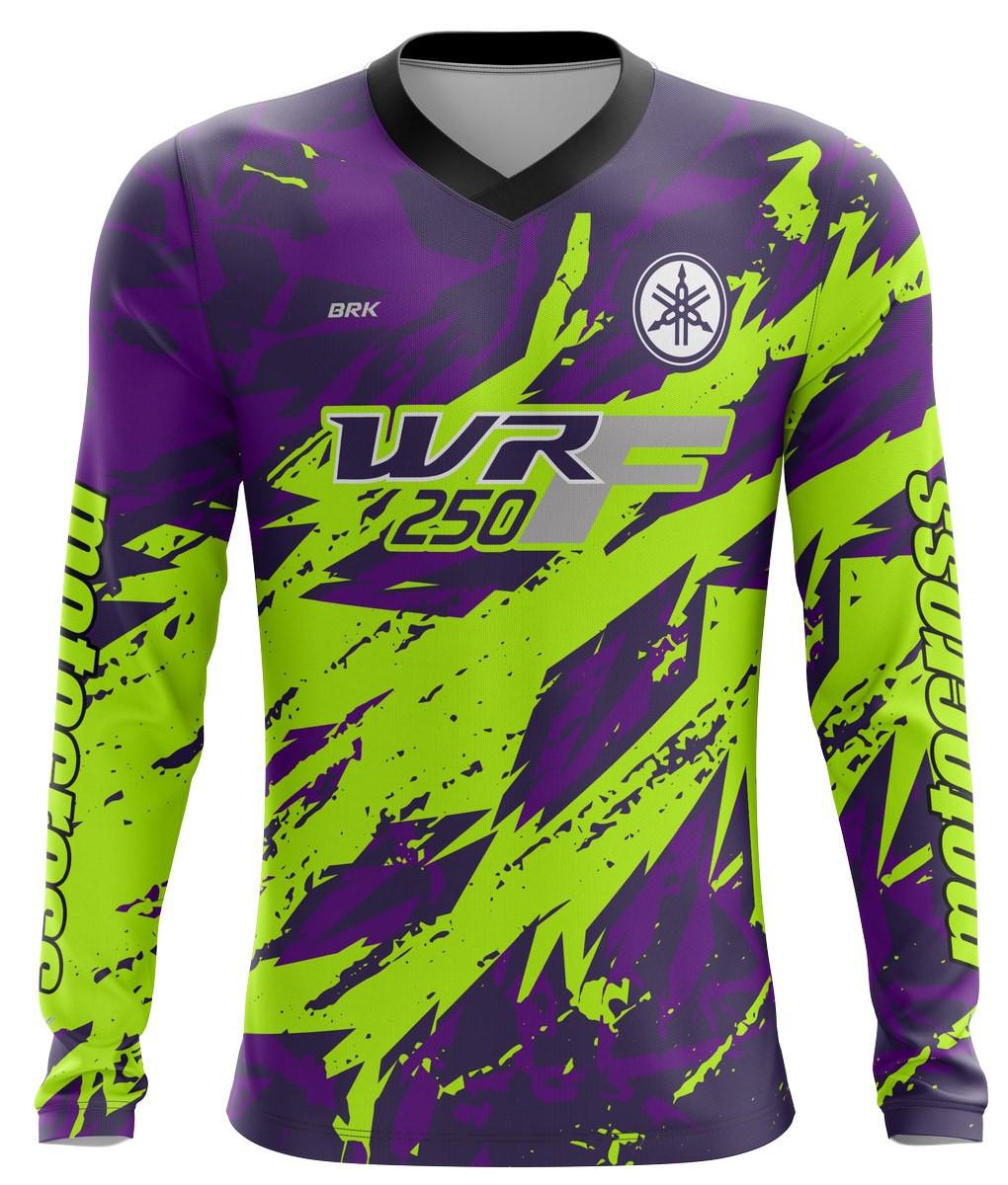Camiseta Brk Motocross Yamaha WRF 250 com fps 50+