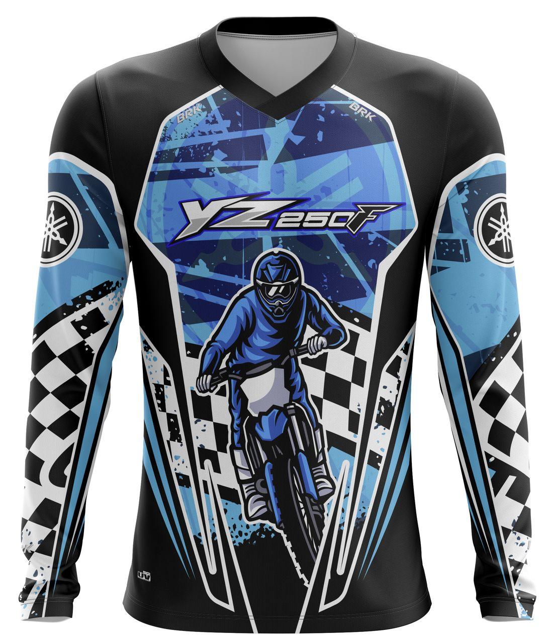 Camiseta Brk Motocross Yamaha YZ 250F com FPU 50+