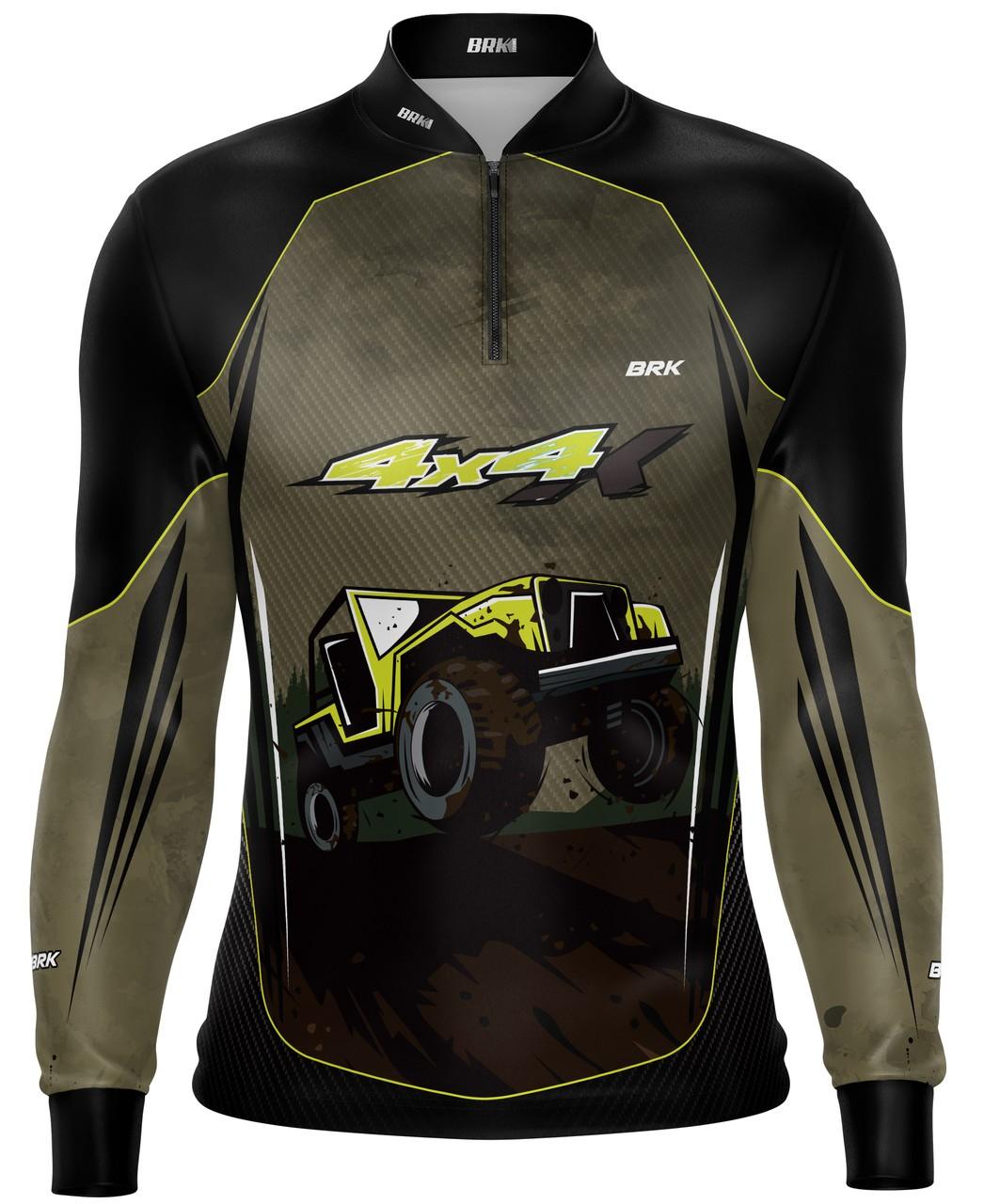 Camiseta Brk Off Road 4X4 Marrom com FPU 50+