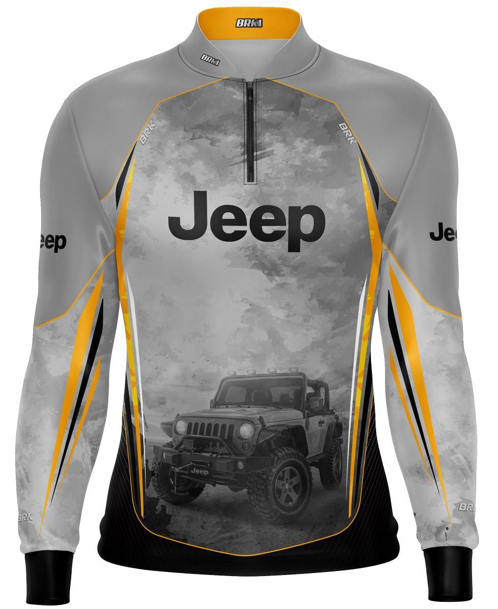Camiseta Brk Off Road Jeep Cinza com FPU 50+