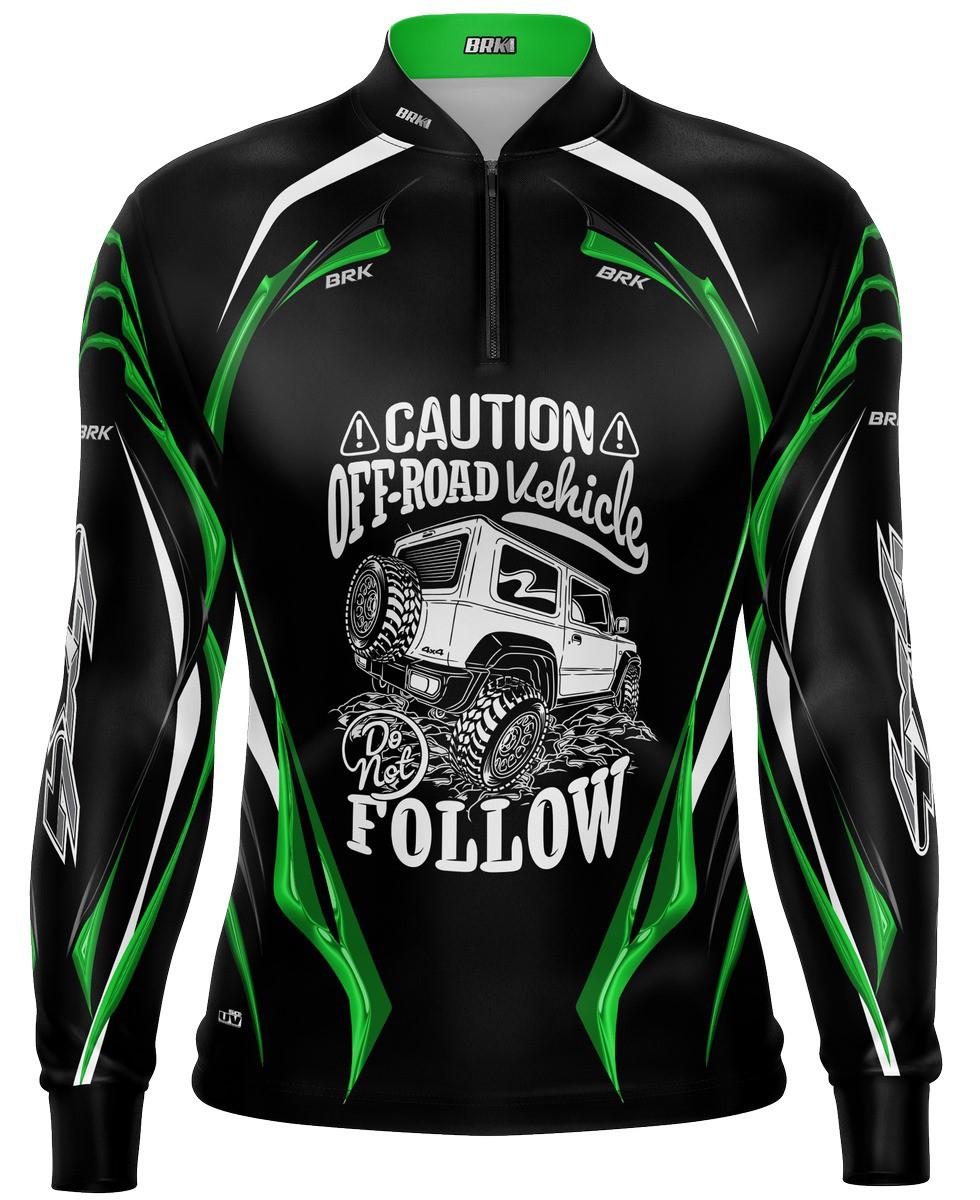 Camiseta Brk Off Road Preto com Verde com FPU 50+
