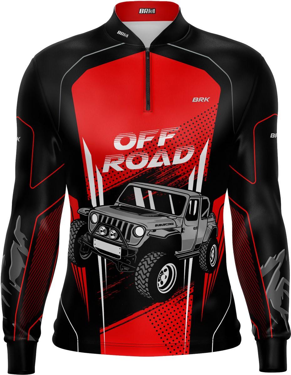 Camiseta Brk Off Road Preto com Vermelho com FPU 50+