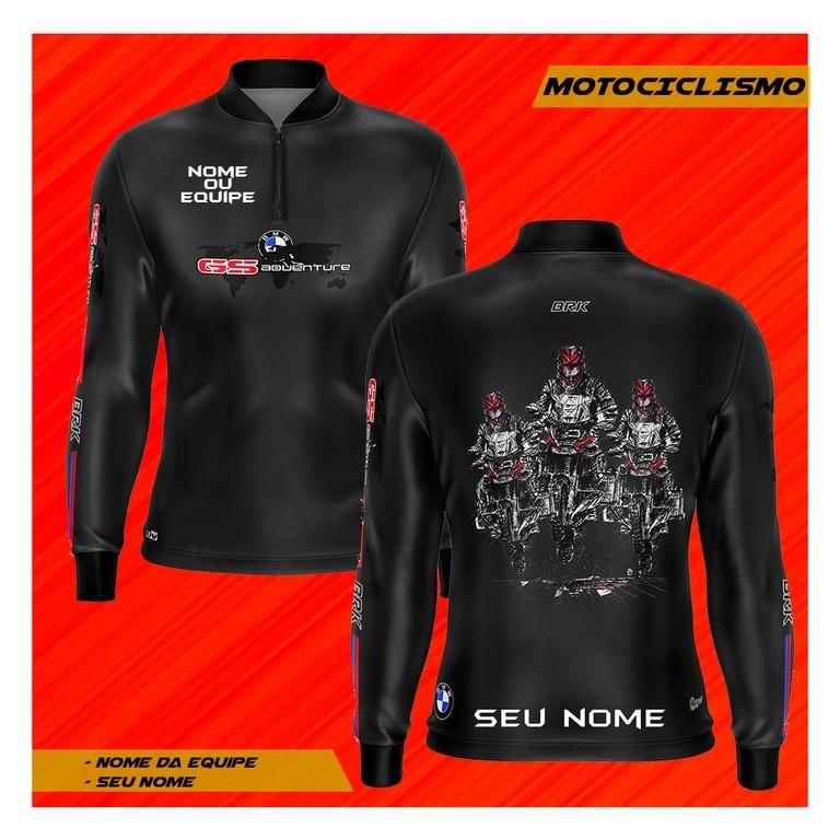 Camiseta Brk Personalizada Motociclismo GS Adventure 02 com fpu 50+