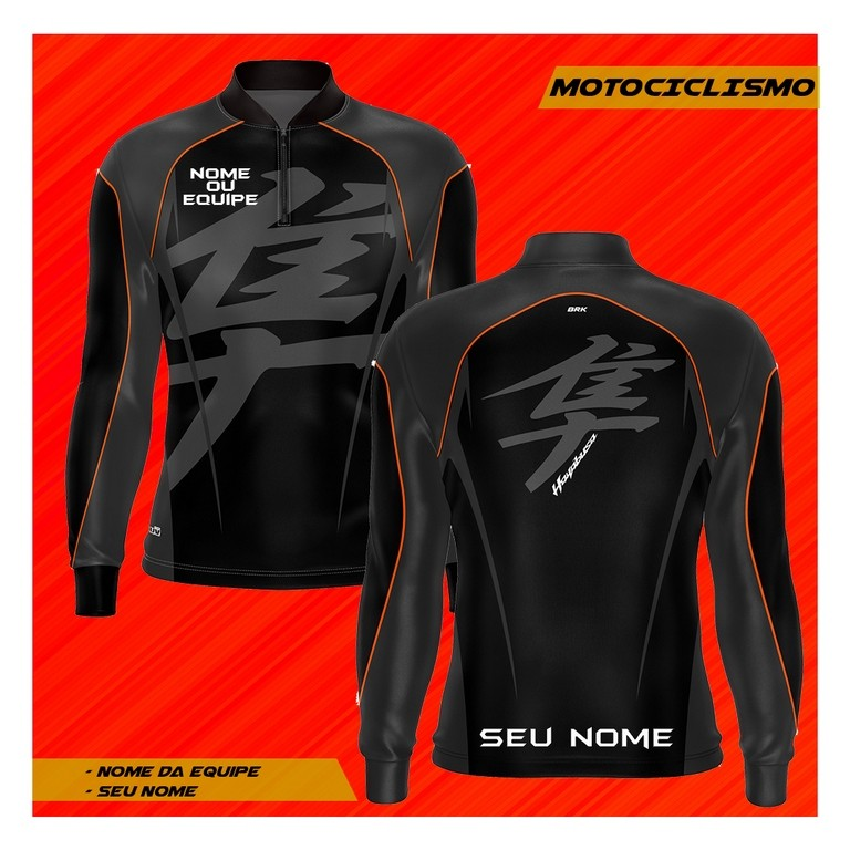Camiseta Brk Personalizada Motociclismo Hayabusa Suzuki com fps 50+