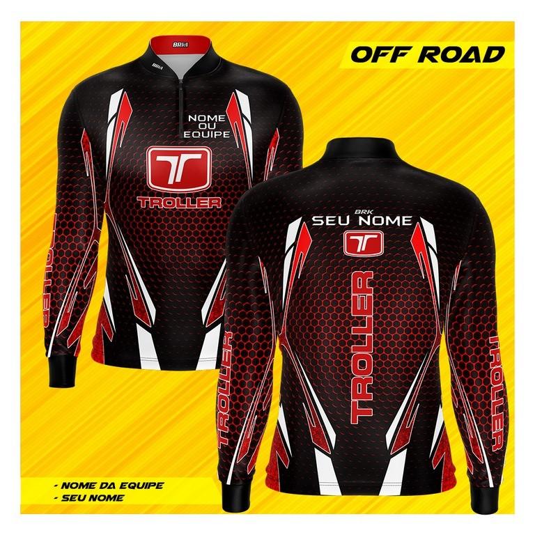 Camiseta Brk Personalizada Off Road Troller Vermelha 2 com FPU 50+