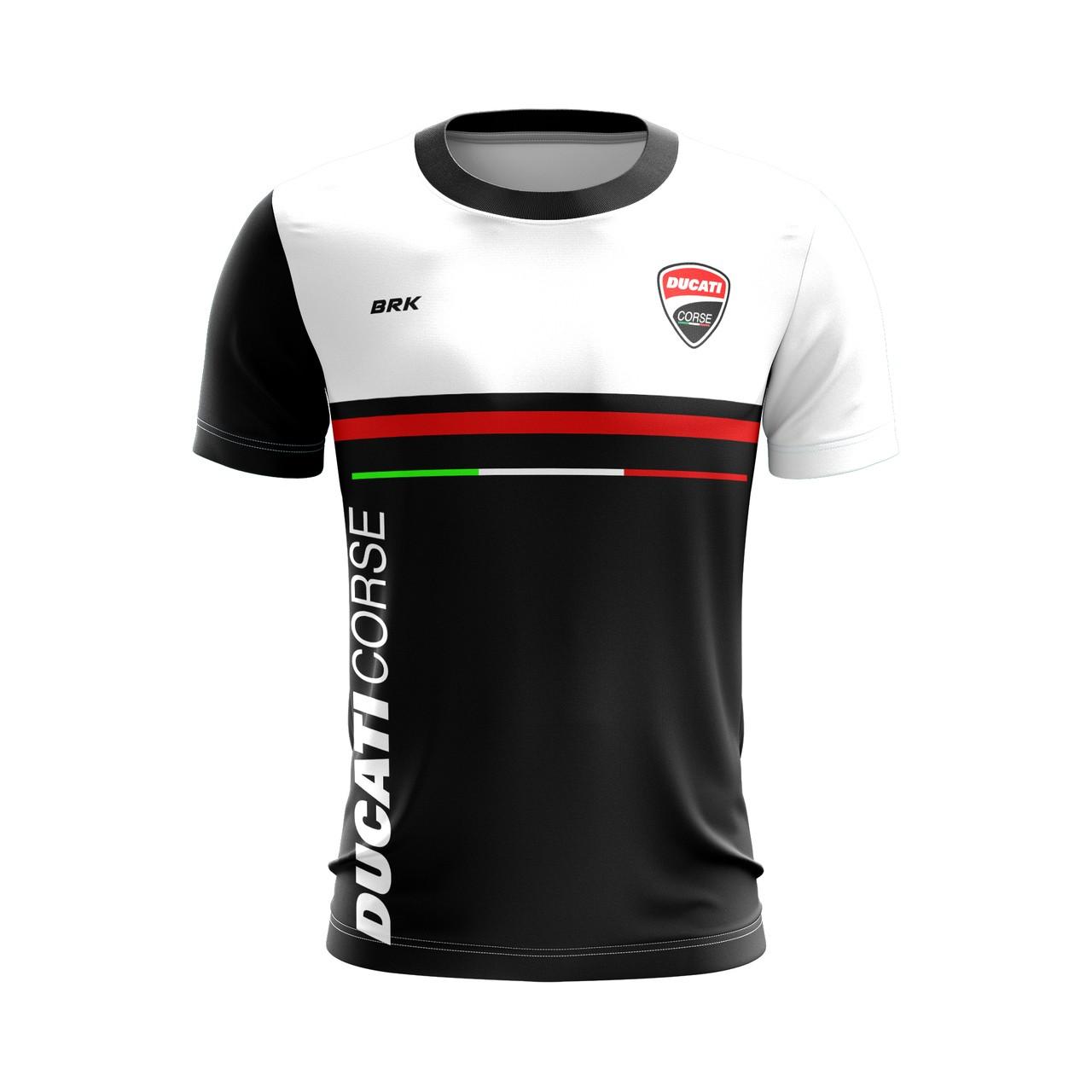 Camiseta Casual Brk Motociclismo Ducati Corse com FPU 50+