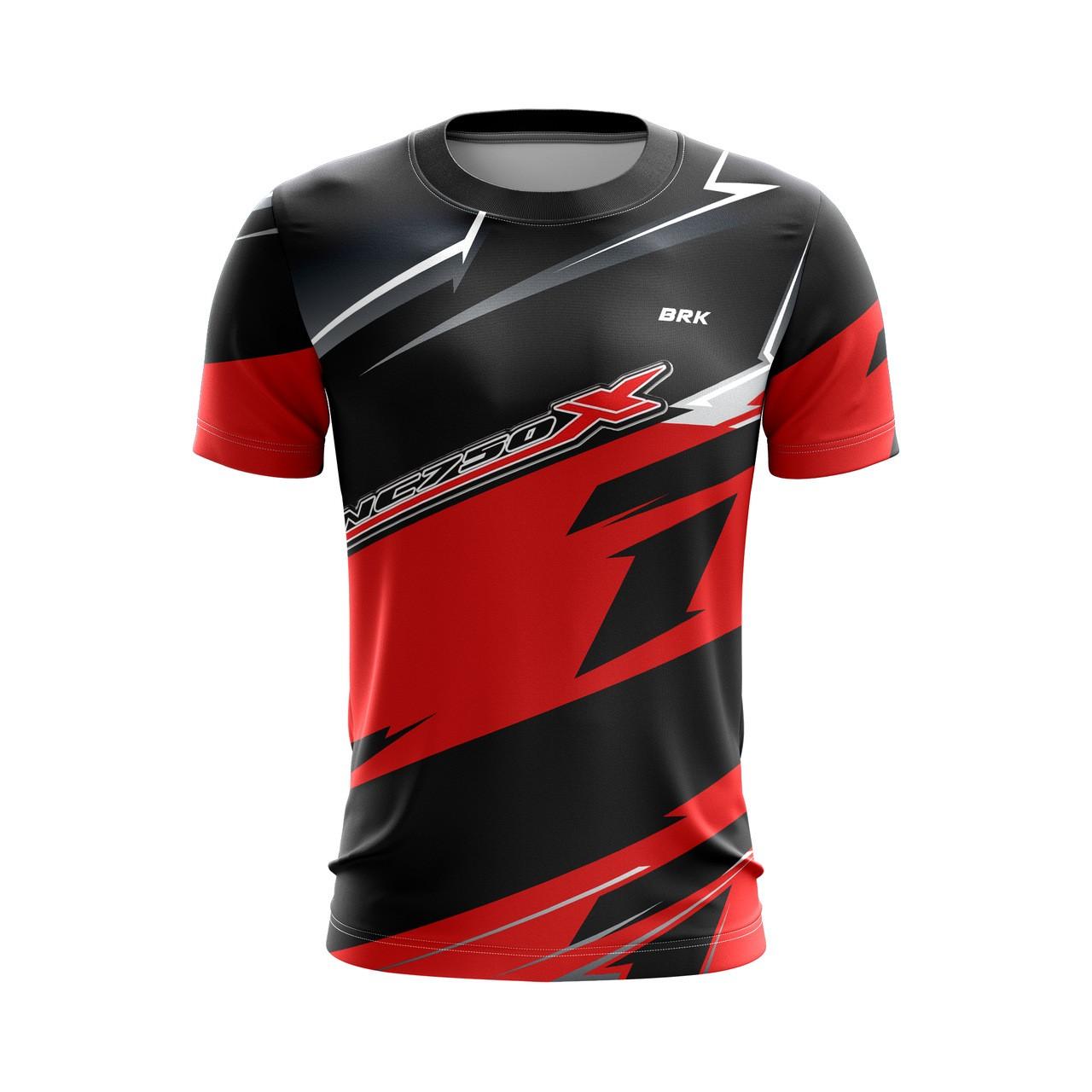 Camiseta Casual Brk Motociclismo Honda NC750 com FPU 50+