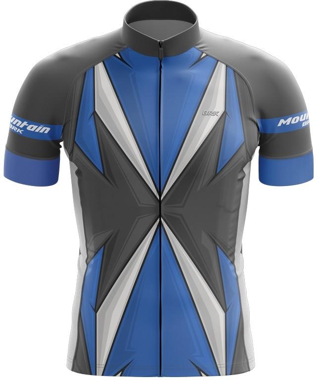 Camisa Ciclismo Brk Azul com Cinza com FPU 50+