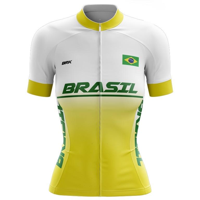 Camisa Ciclismo Brk Feminina Brasil com FPU 50+
