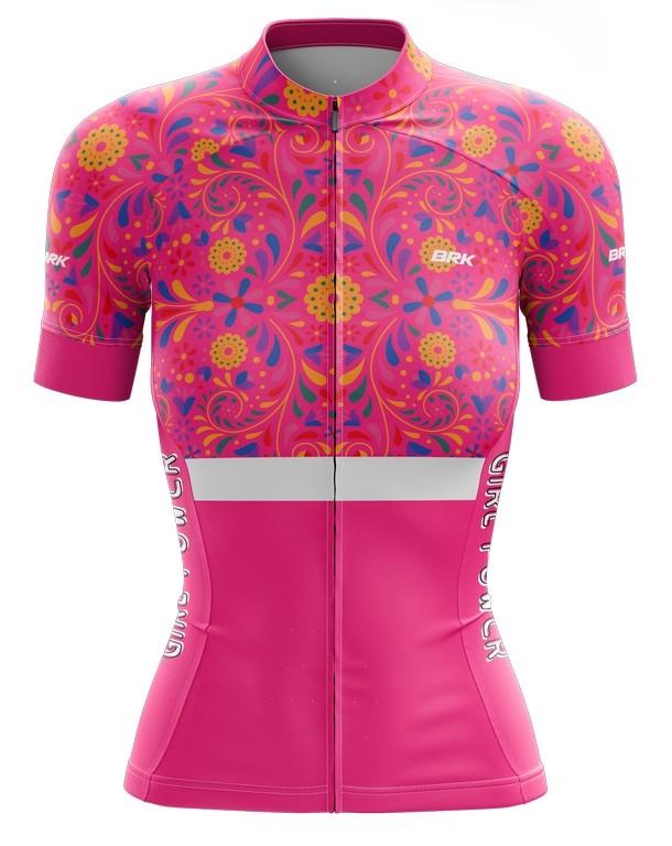 Camisa Ciclismo Brk Feminina Girl Power com FPU 50+