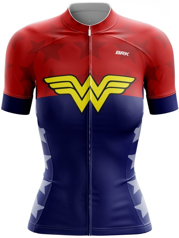 Camisa Ciclismo Brk Feminina Mulher Maravilha com FPU 50+