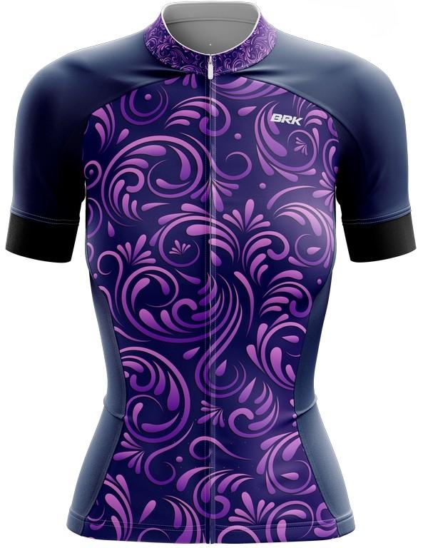 Camisa Ciclismo Brk Feminina Roxo Vintage com FPU 50+