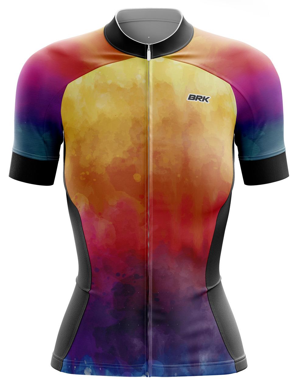 Camisa Ciclismo Brk Feminina Tie Dye Summer com FPU 50+