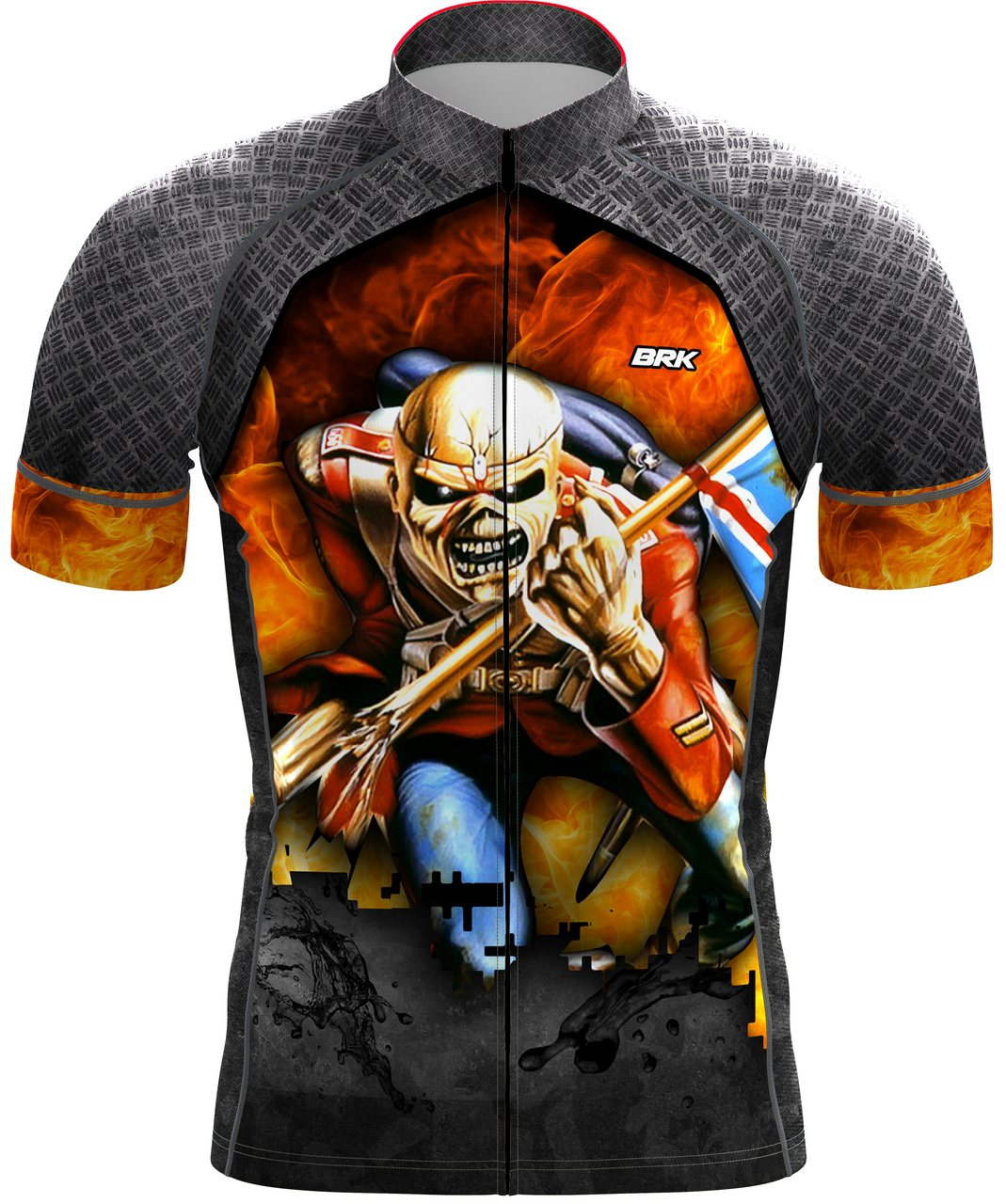 Camisa  Ciclismo Brk Iron Maiden com FPU 50+