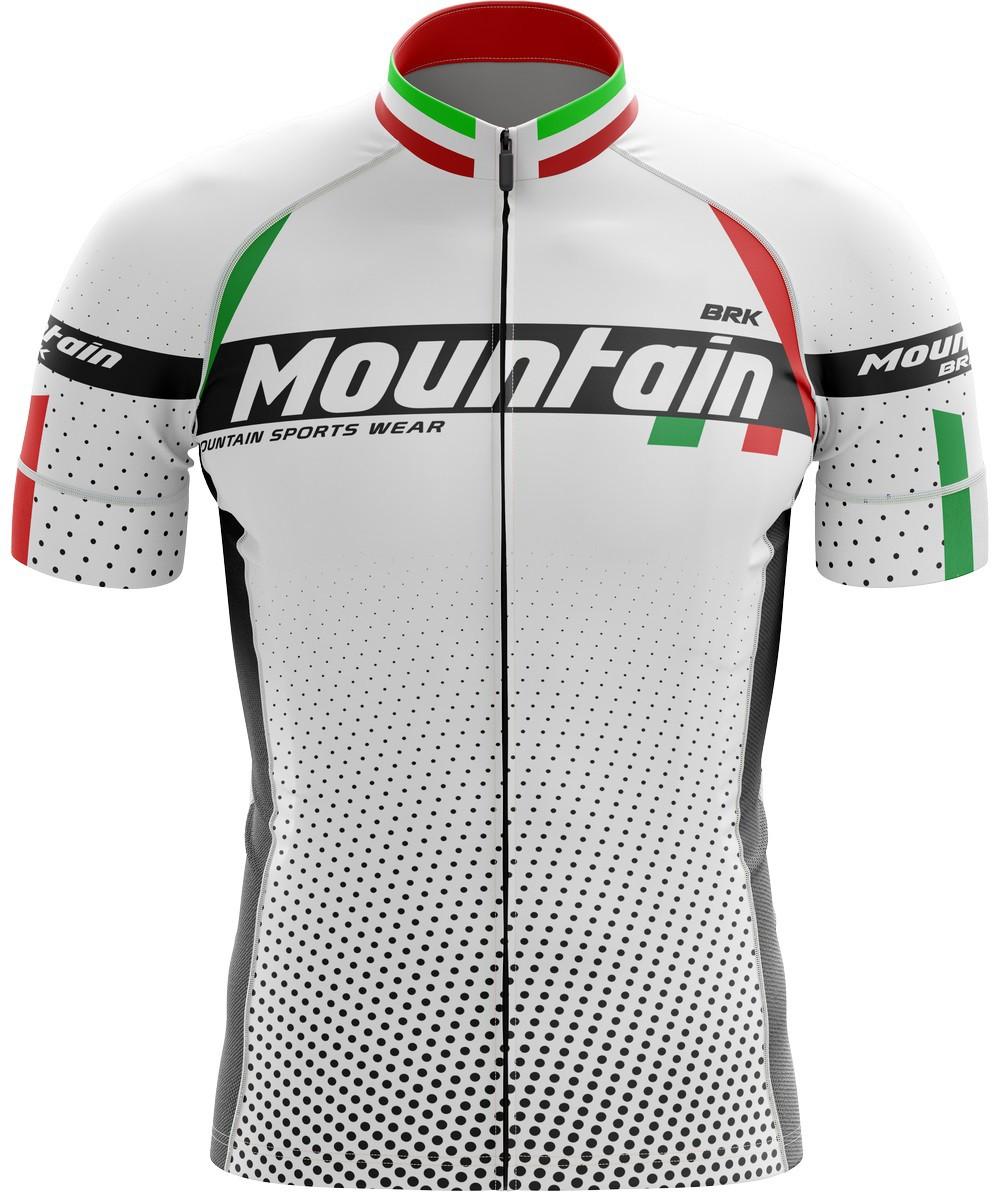 Camisa Ciclismo Brk Itália Branca com FPU 50+