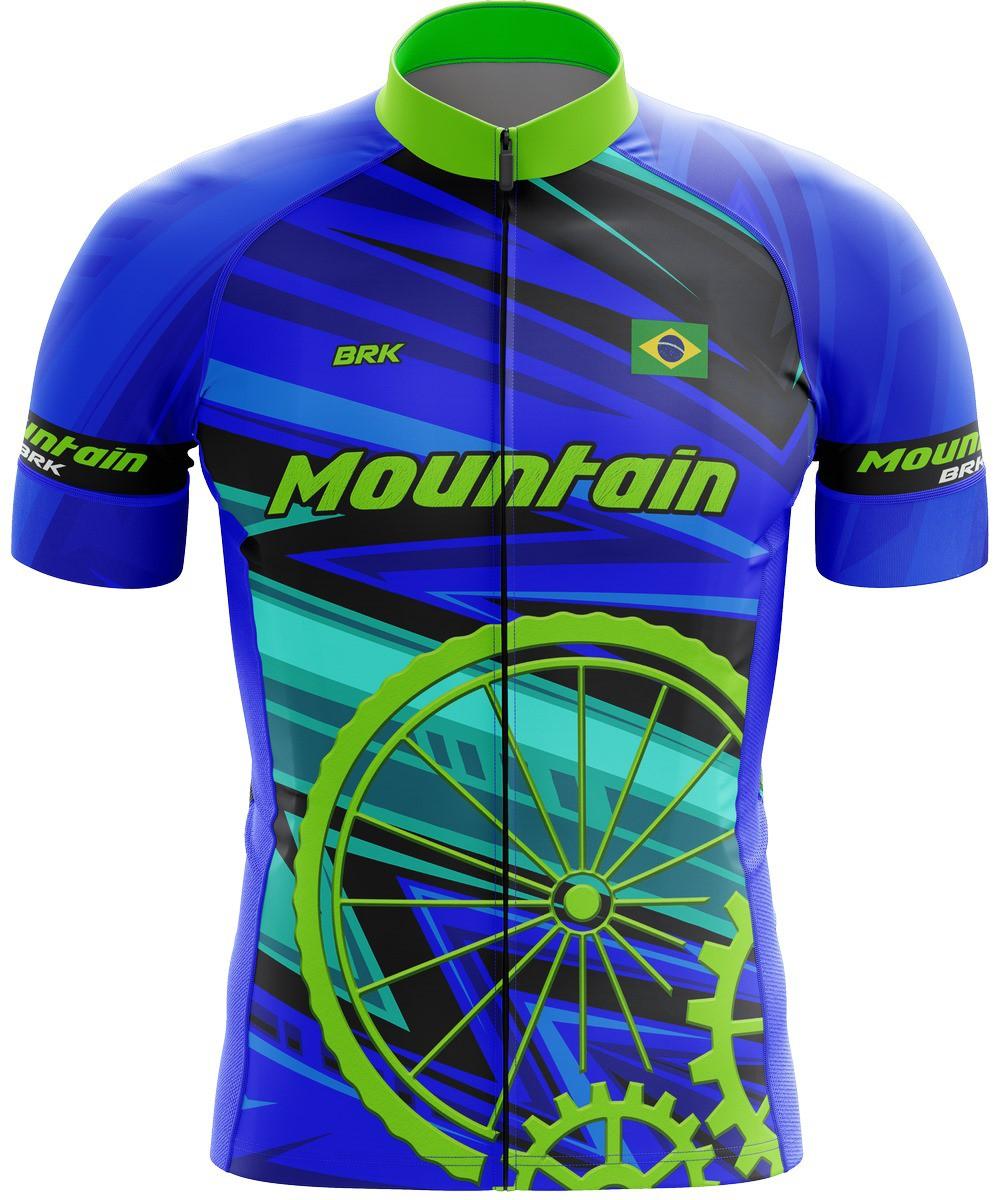 Camiseta Ciclismo Brk Mountain Azul com FPU 50+