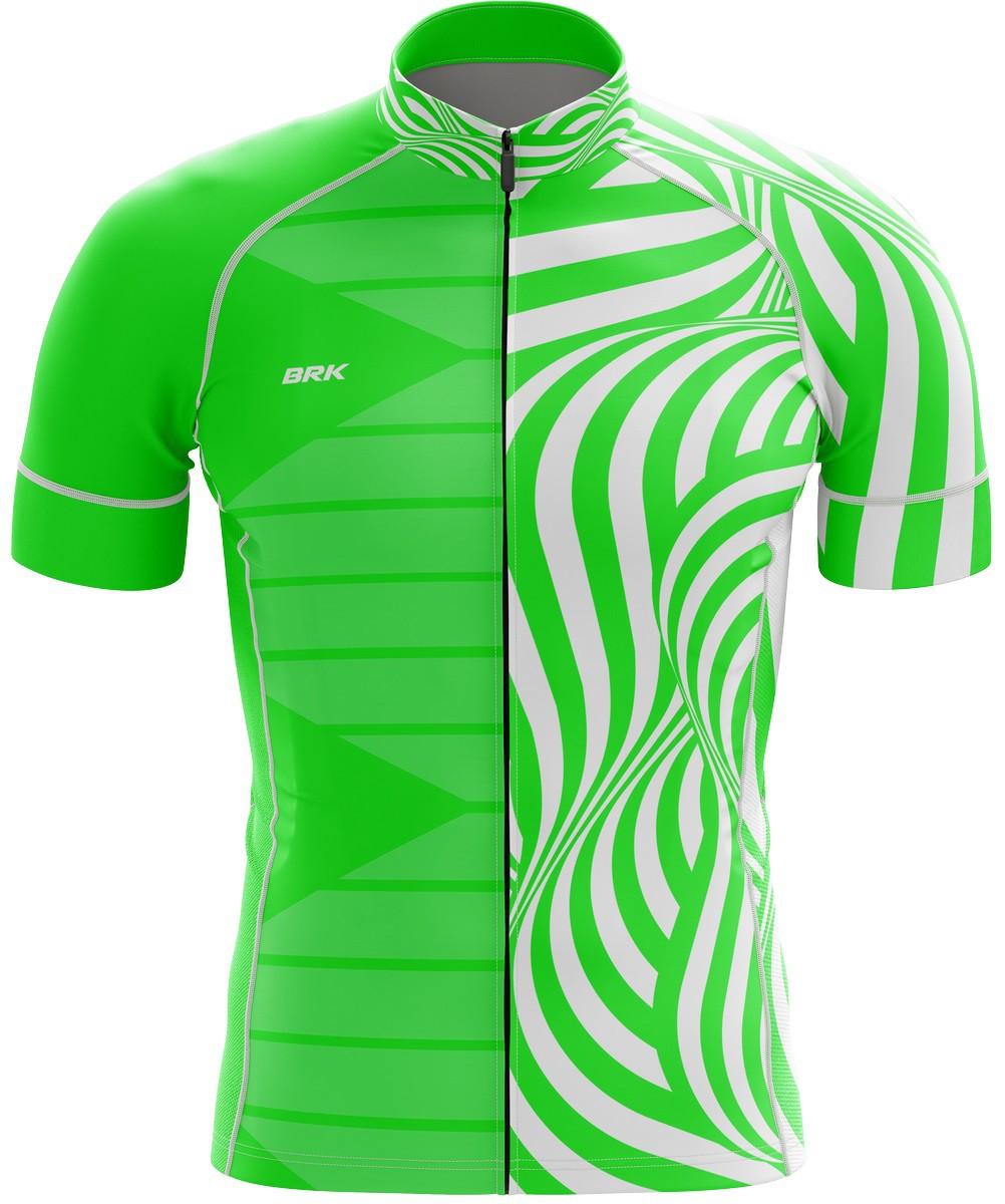 Camisa Ciclismo Brk Verde e Branco com FPU 50+