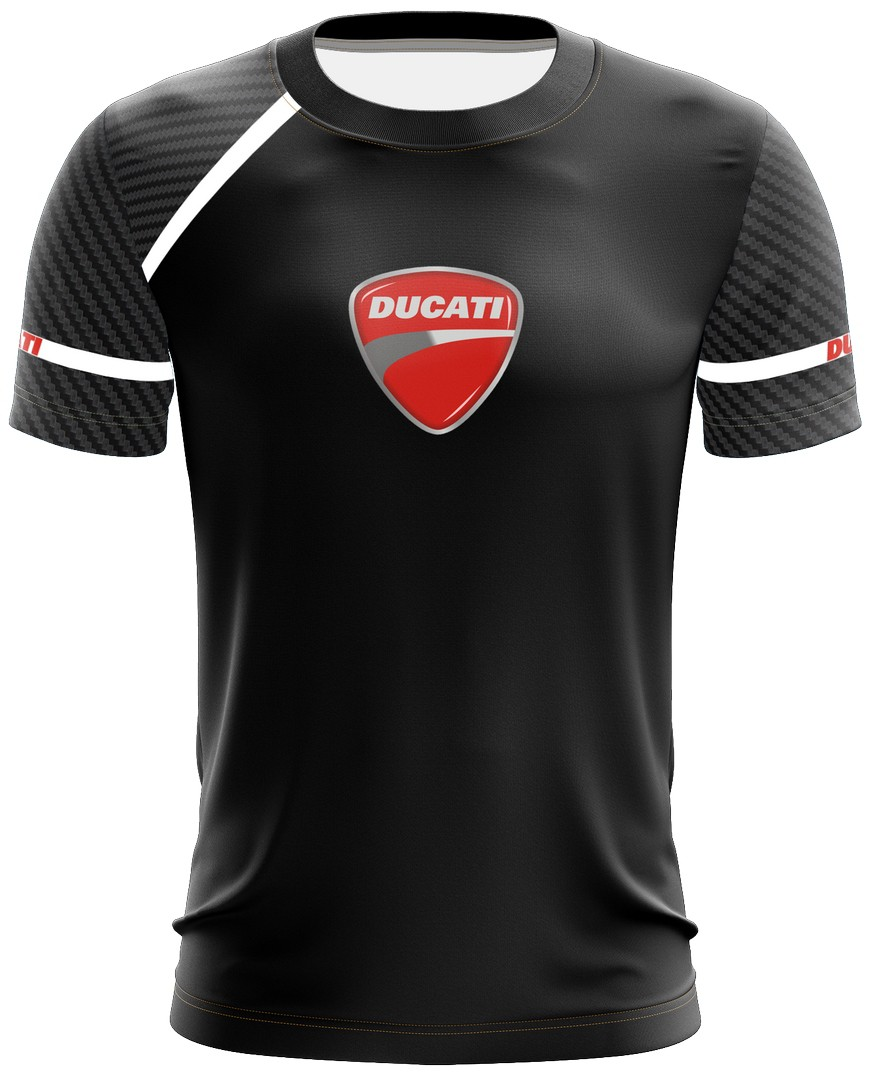 Camiseta Ducati Casual 02 Brk Motociclismo Tecido Dry