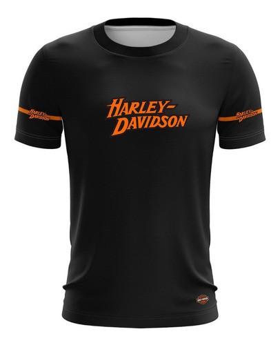 Camiseta Harley Davidson Camisa Casual Tecido Dry +50uv Brk