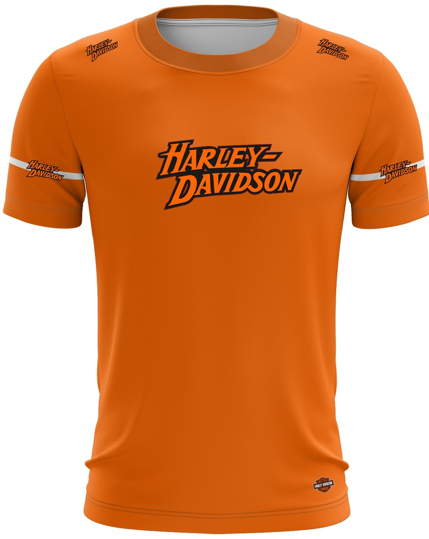 Camiseta Harley Davidson Casual 03 Brk Motociclismo Tecido Dry