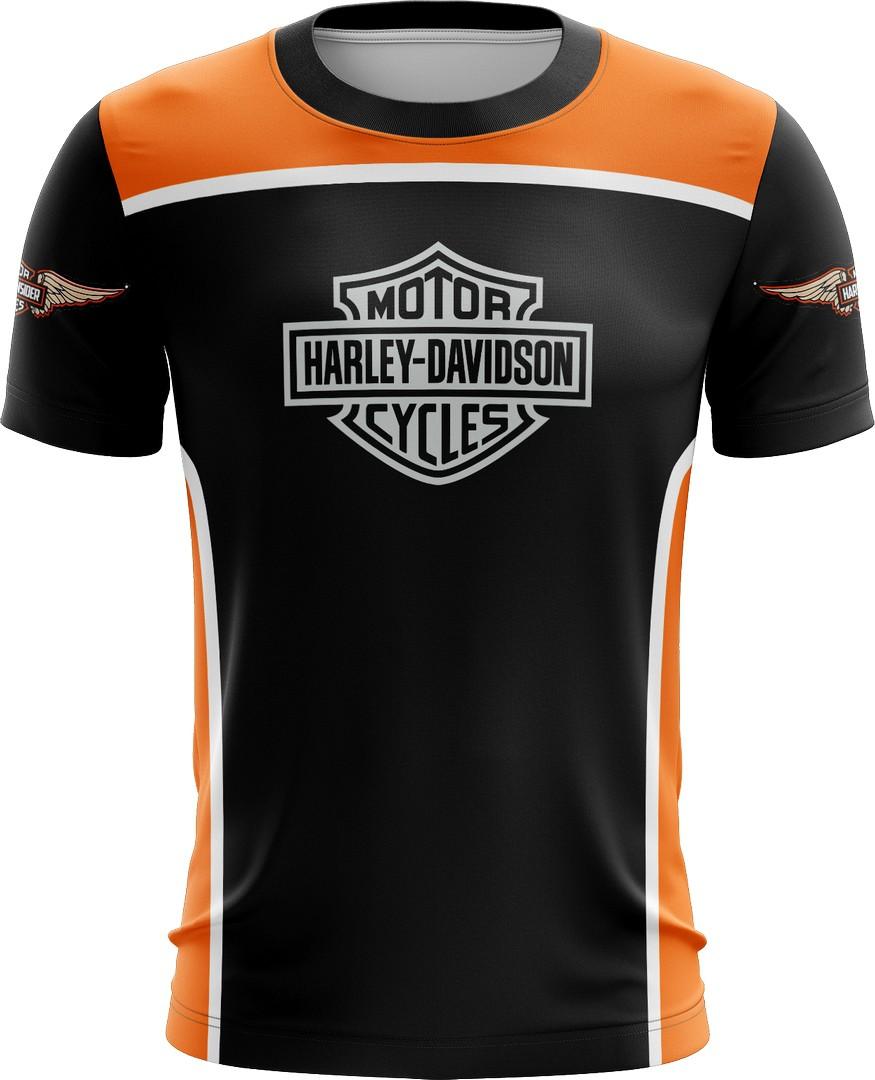 Camiseta Harley Davidson Casual 04 Brk Motociclismo Tecido Dry