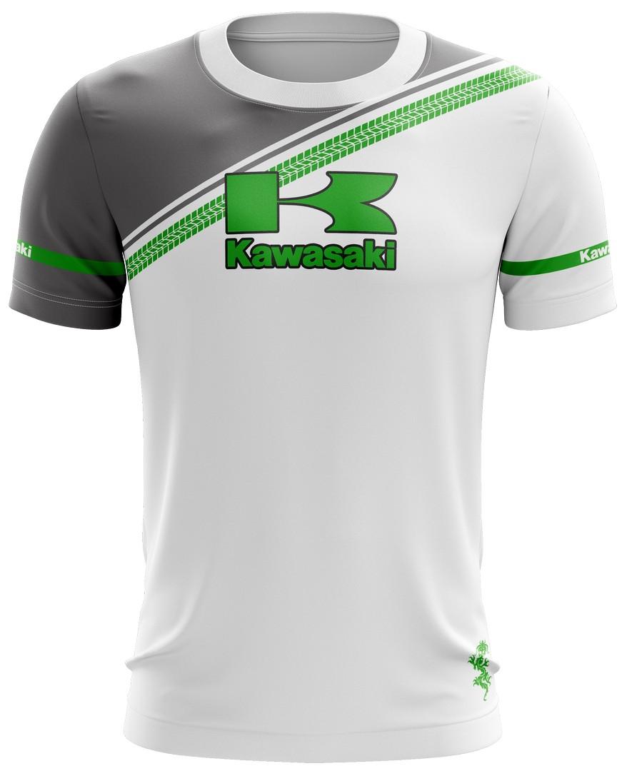 Camiseta Kawasaki Casual 02 Brk Motociclismo Tecido Dry