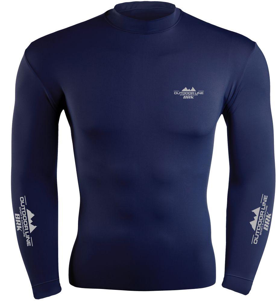 Camiseta Poliamida Outdoor Brk Azul com FPU 50+