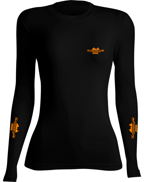 Camiseta Poliamida Outdoor Brk Feminina Preta com FPU 50+